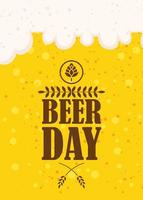 Beer Day celebration poster with seal stamp vector