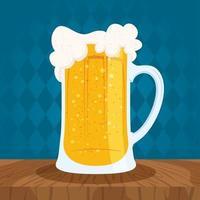 composición de celebración del día de la cerveza con taza llena