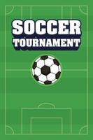 Football soccer sports tournament poster with ball