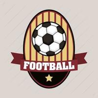 Football soccer sports emblem with ball