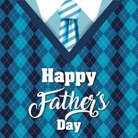 Happy father's day banner with antique male icons vector