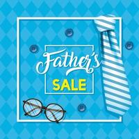 Father's day sale banner with antique male icons vector