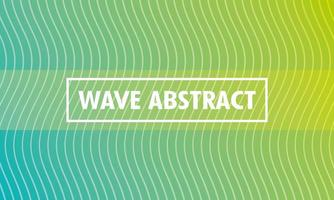Abstract wavy green background vector