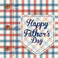 Happy father's day banner with elegant male shirt vector