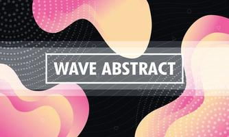 Abstract wavy colorful background vector