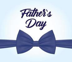 banner de venta del día del padre con pajarita vector