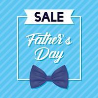 banner de venta del día del padre con pajarita