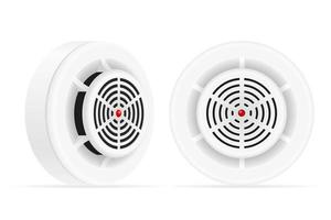 Smoke detector fire and gas home security system vector