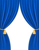 cortina teatral azul vector