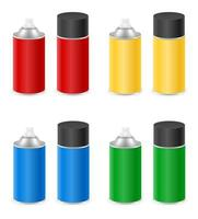 Spray paint in a metal can set vector