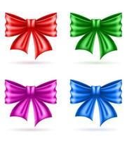 Holiday celebratory realistic bow set