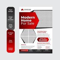 Creative real estate flyer template design vector