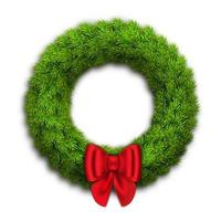 Christmas wreath with fir branches vector