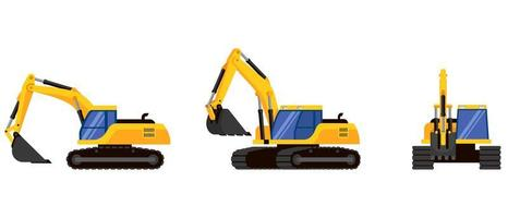 Excavator in different angles
