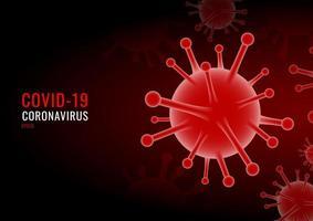 coronavirus covid-19 virus fondo rojo vector