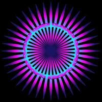 Espirógrafo colorido púrpura abstracto sobre fondo negro