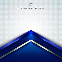 Abstract technology concept blue metallic angle arrow vector