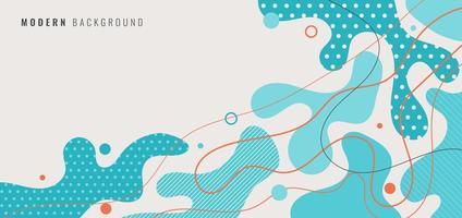 Abstract background blue shapes with line and spot vector