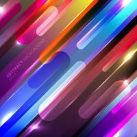 Abstract colorful glowing geometric rounded diagonal line vector