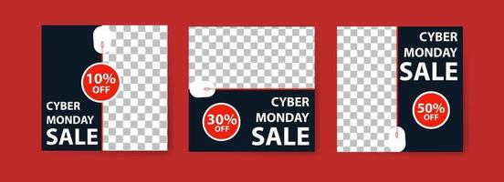 Cyber Monday Sale Banner Set