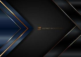 Abstract elegant blue geometric triangle overlap layers vector