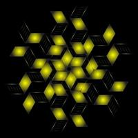Fractal pattern in the shape of a star vector