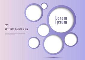 Abstract background purple circles frame bubble design vector