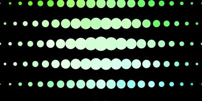 Dark Green template with circles.