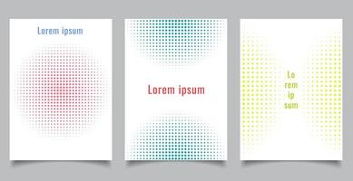 Brochure template set abstract halftone style circles vector
