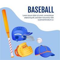 Baseball gear social media post vector