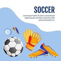 Soccer gear social media post vector
