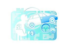 Car modeling banner vector