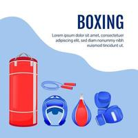 Boxing gear social media post mockup vector