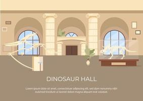 cartel de sala de dinosaurios vector