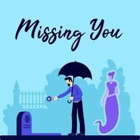 Funeral social media post vector