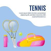 Tennis social media post vector