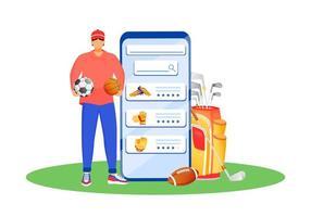 aplicación móvil para ropa deportiva vector