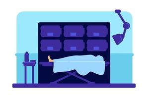 Body in hospital morgue vector