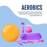 Aerobics social media post mockup vector