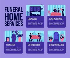Funeral home services vector