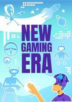 New gaming era poster vector