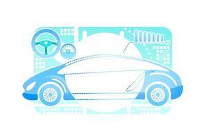 Car driving simulator vector