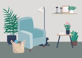 acogedora sala de estar vector