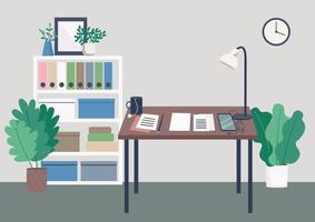 escritorio del lugar de trabajo del escritor vector