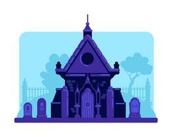 Old stone vault in cemetery vector