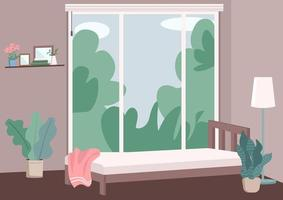 Modern bedroom interior vector
