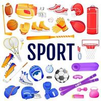 Sport objects set vector