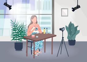 blogger de maquillaje vector