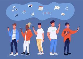 cultura de las redes sociales vector