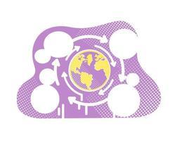 globalización mundial vector